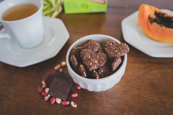 Biscoito Integral de Amendoim e Chocolate (vegano) - 60g