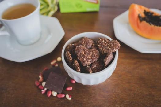 Biscoito sem glúten, sem leite - Integral de Amendoim e Chocolate (vegano) - 60g