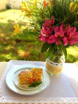 O pãozinho de batatas c/ recheio de frango SAMMA FUNCIONAL